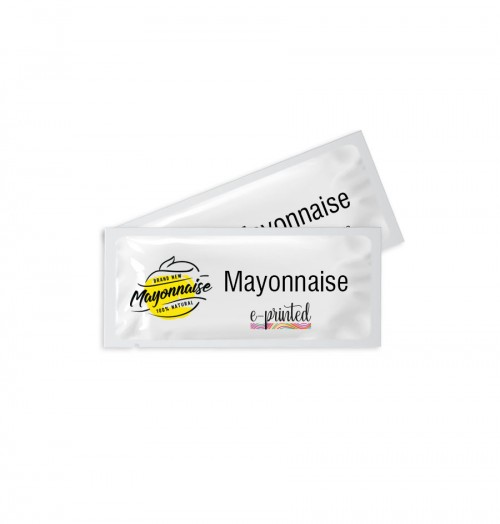 Custom Design Plastic Mayonnaise Packets