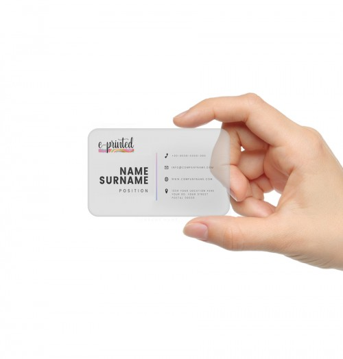 Clear Business Card